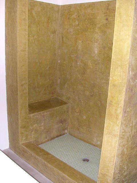Texston Marmorino In The Shower Bathroom Styling Wall Finishes Corner Bathtub