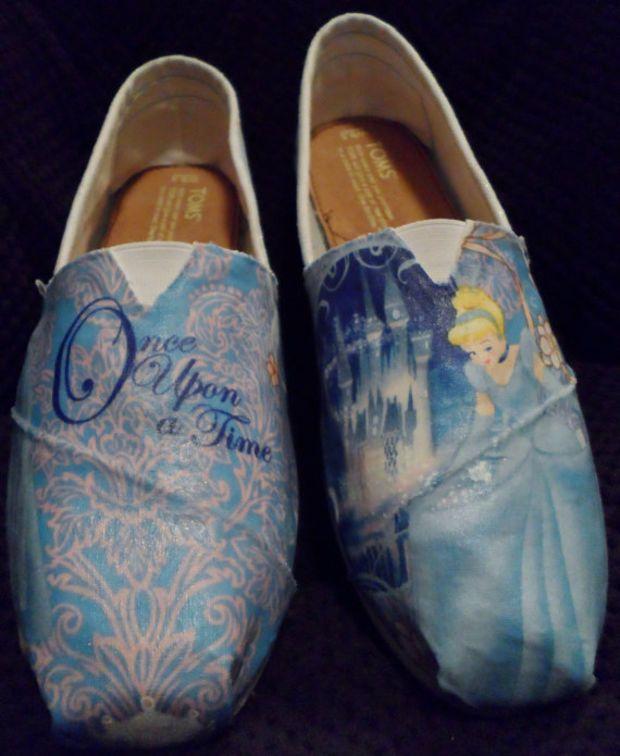 867dfde5618 Glitter Cinderella Princess Toms