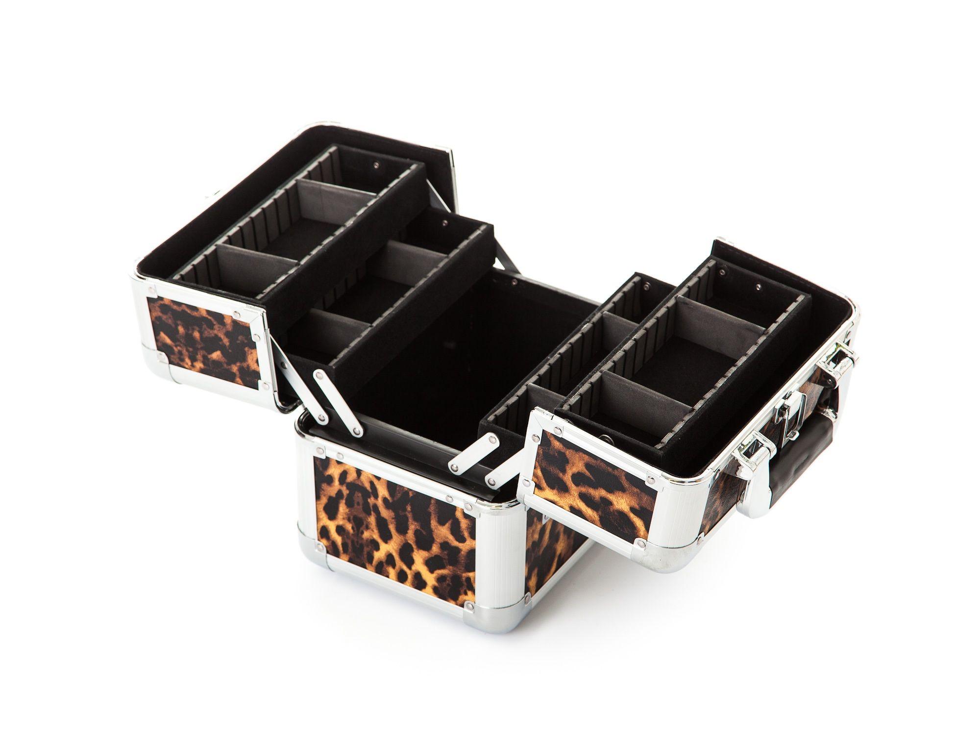 Inside the Urbanity Animal Print Leopard Makeup Case
