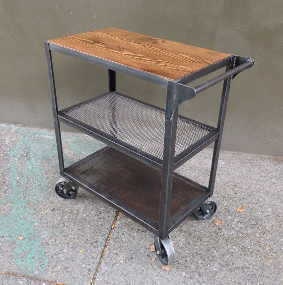 kitchen serving cart sink pendant light industrial bar the highest quality re purposed materials are selected in crafting all our bart carts and come from a variety of
