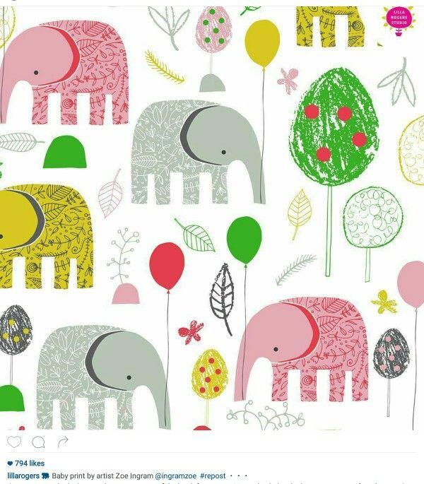 Pin Ot Polzovatelya Heather Menzie Na Doske Cute For Kids Slony Kompoziciya