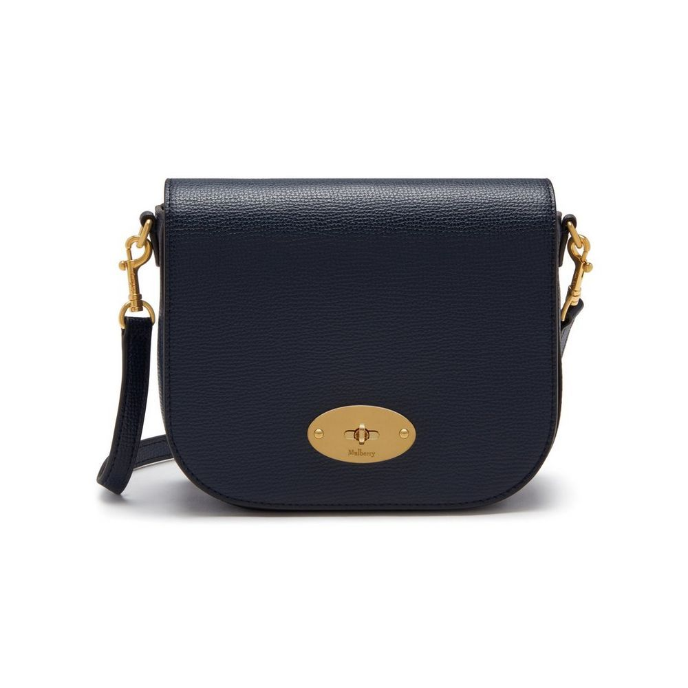 2f687a0958 Shop the Small Darley Satchel in Bright Navy Cross Grain Leather at Mulberry.com.  The Small Darley Satchel has retro mini-bag appeal