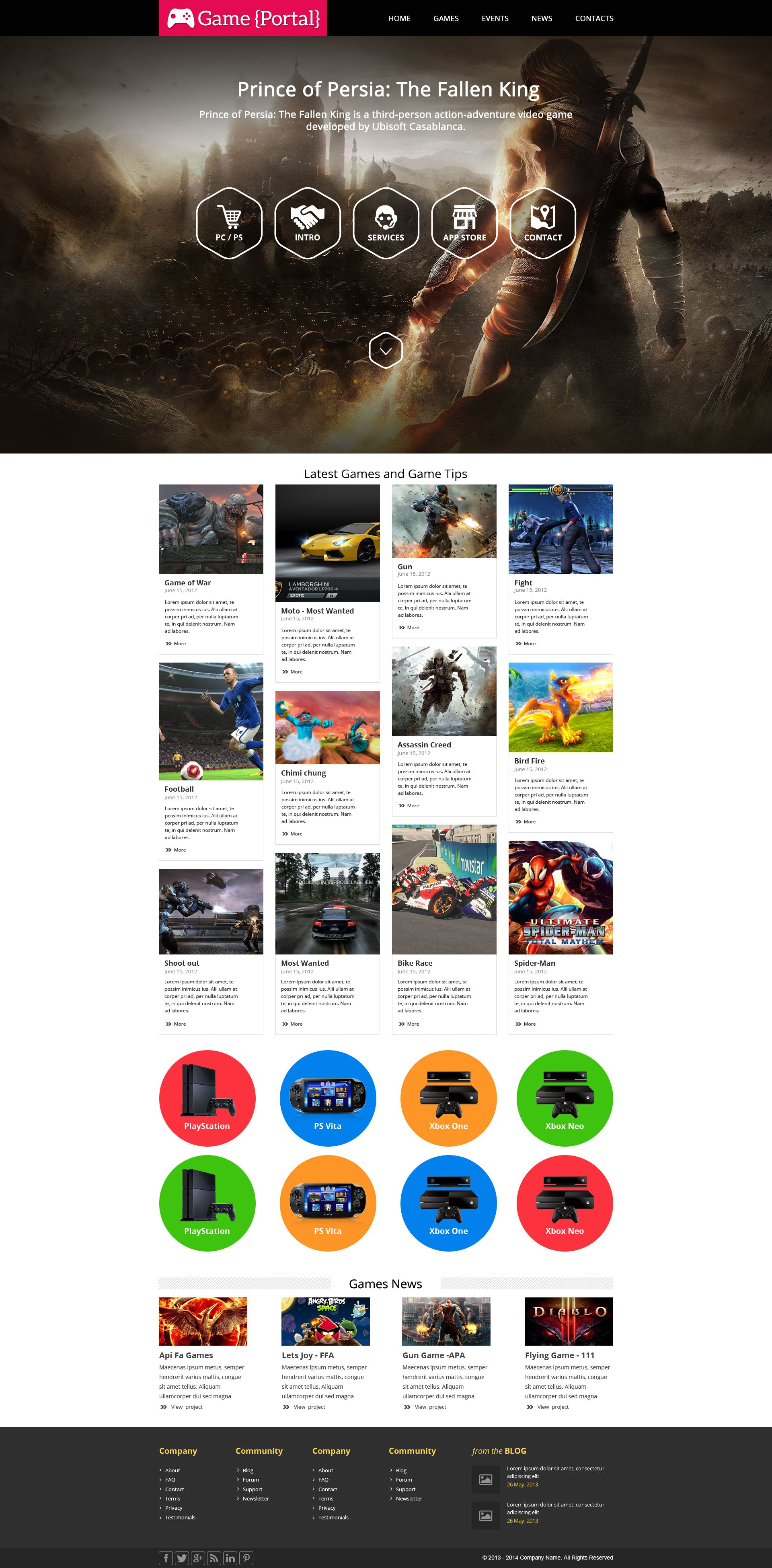 Game portal theme. Sell365 India\'s best Online Store Builder.Design ...