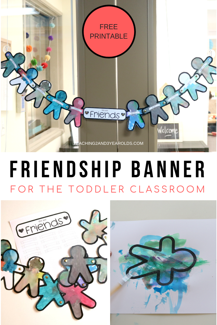 How To Create A Banner For A Toddler Friendship Activity Aktiviteter Barnehage Tema [ 1102 x 735 Pixel ]
