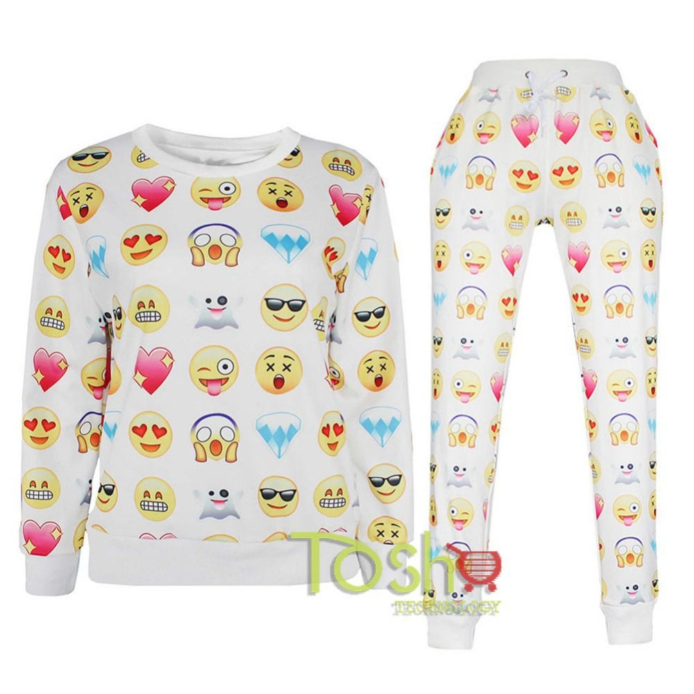 Free Shipping Buy Best School Girl Boy Sleepwear 2 Pieces Emoji Skull Clothes Pantshoodies Print Cartoon 3d Swe Emoji Clothes Emoji Joggers Emoji Fashion