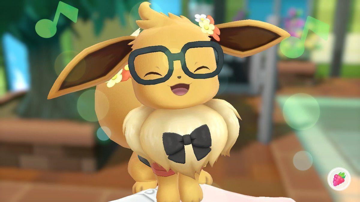 I love my eevee please look at him pokemonletsgo