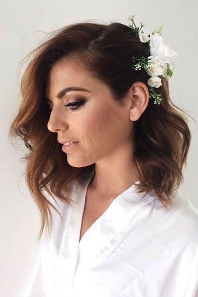39 Best Pinterest Wedding Hairstyles Ideas Wedding Forward Hair Styles Short Wedding Hair Medium Length Hair Styles
