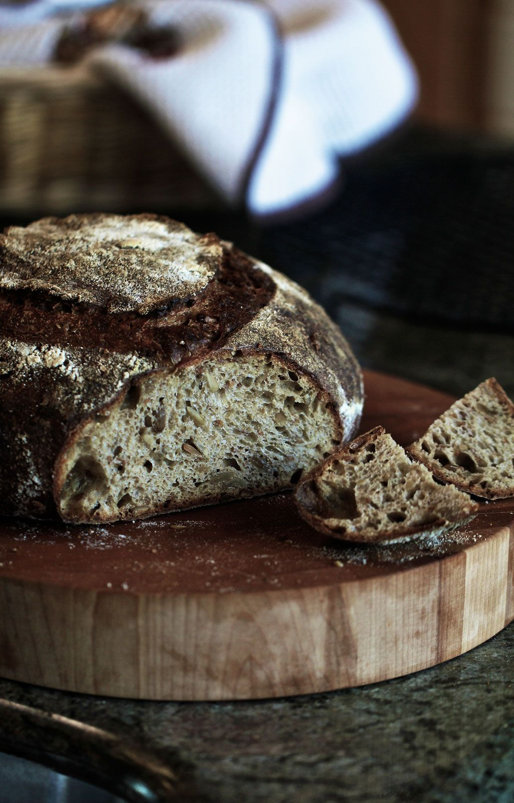 Chad Robertson's Country Wholewheat-Rye Bread With Flax and Sun Flower Seeds