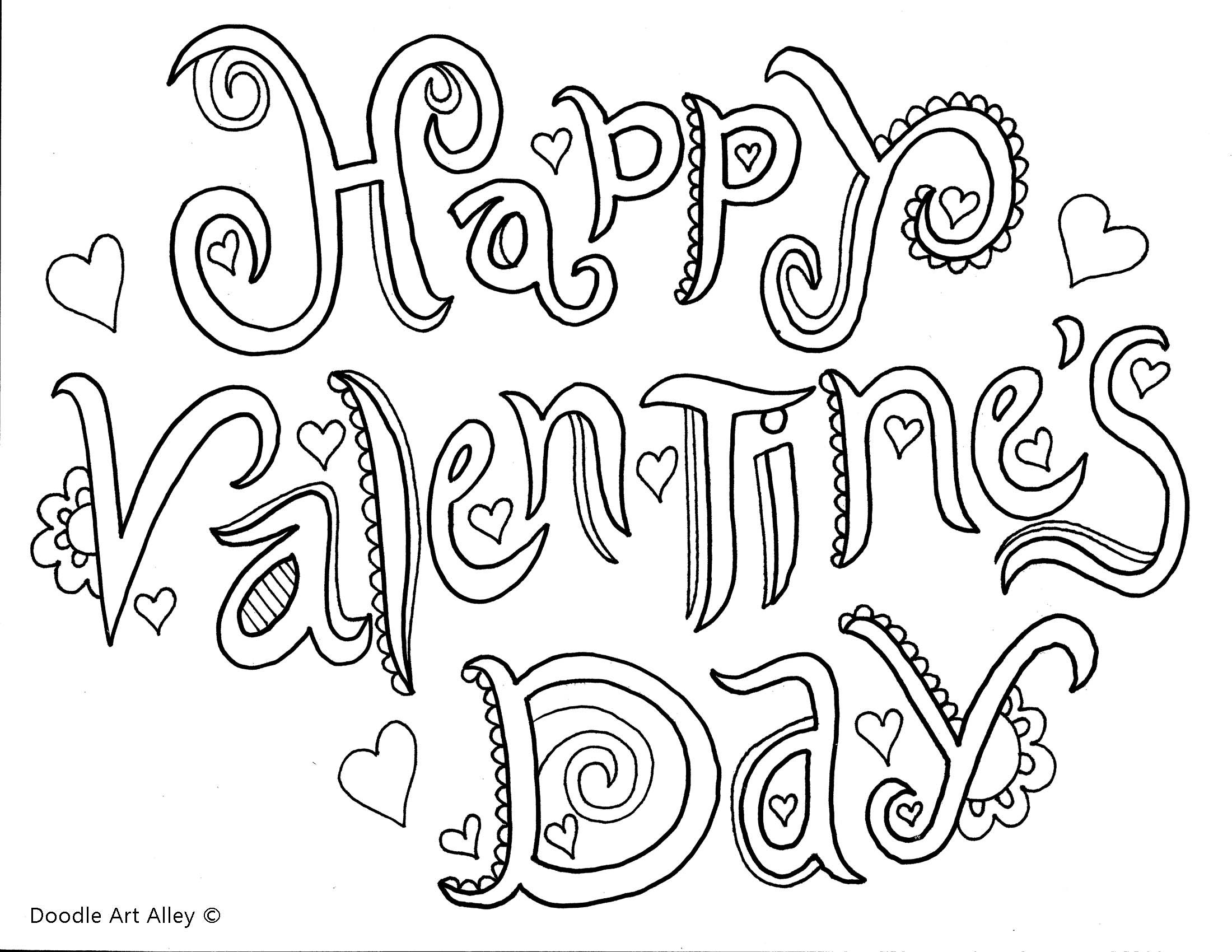 free valentines day text coloring page for adults - Valentines Day Coloring Pages For Adults