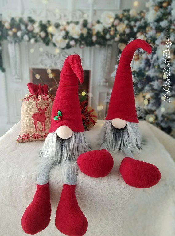 Christmas Gnomes Pinterest.Christmas Elf Gnomes Santa Shelf Sitting Nordic Gnomes