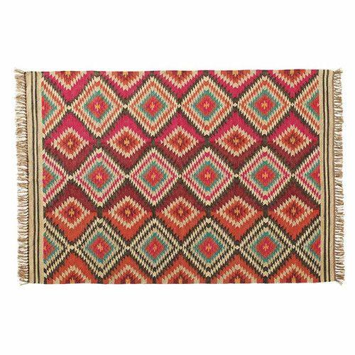 alfombra trenzada de lana de colores x cm acapulco