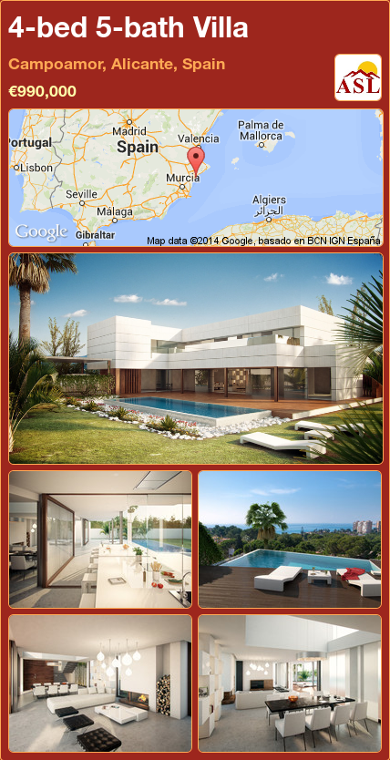 Villa For Sale In Campoamor Alicante Spain With 4 Bedrooms 5 Bathrooms A Spanish Life Villa Mallorca Alicante