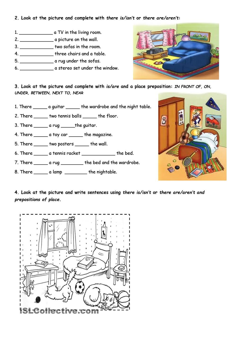 House There Be Worksheets English Lessons For Kids Reading Comprehension Kindergarten