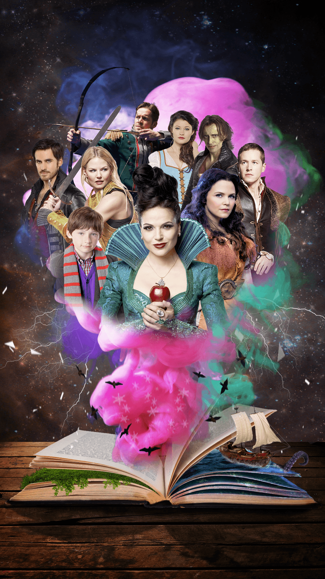 Once Upon A Time Wallpaper 3 Characters With Quotes Snow White Captain Hook 3 Emma Regina 3 Rumpelstilts Once Upon A Time Funny Once Upon A Time Ouat
