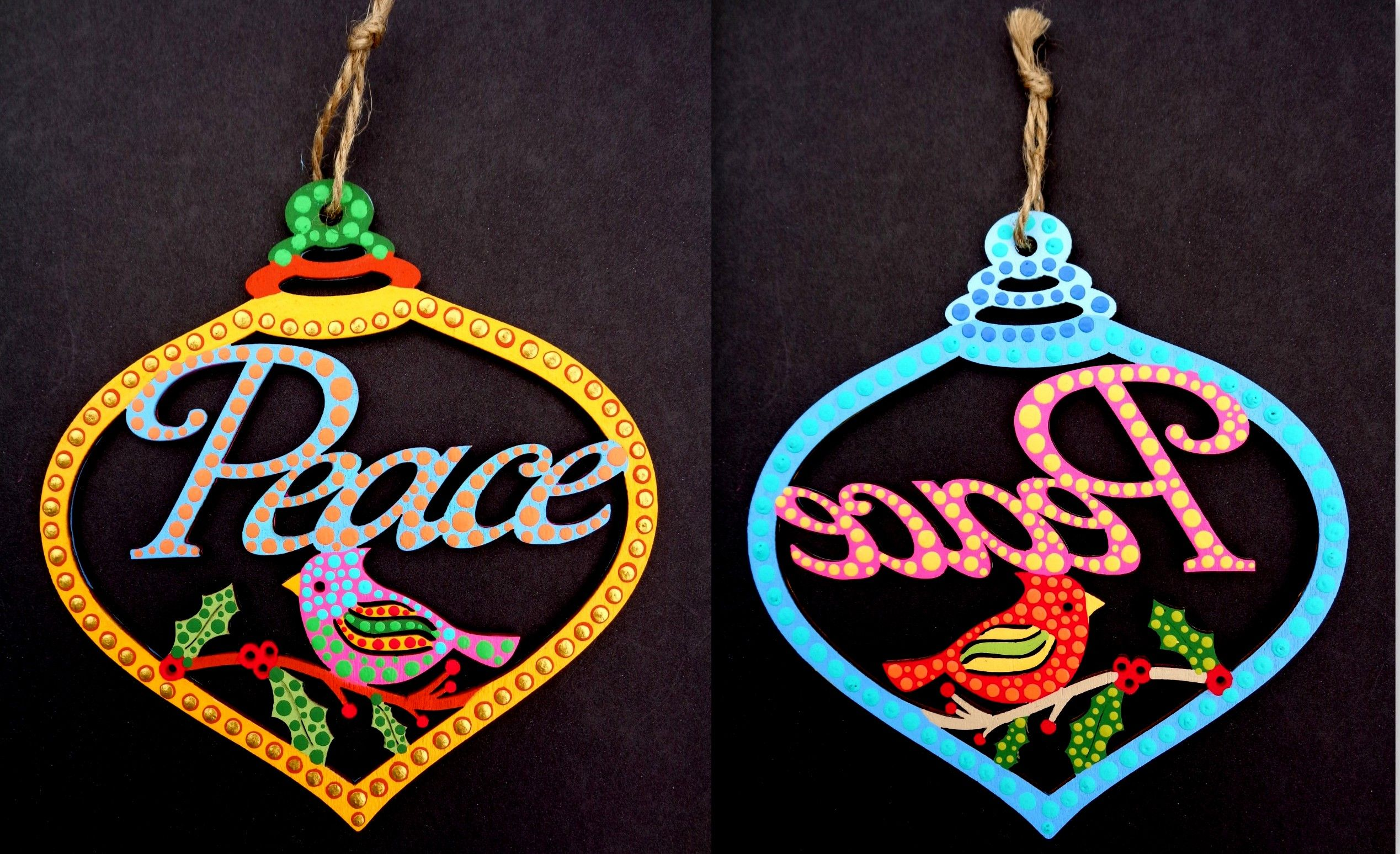 Ornament I hand painted on both sides was sold at the City ...