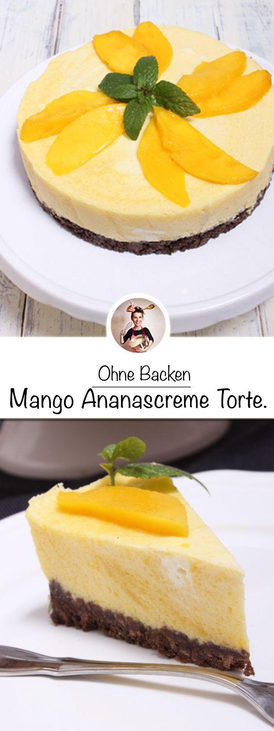 Mango Ananascreme Torte Ohne Zu Backen
