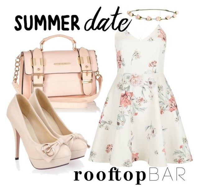 """""""Outfit #268"""" by ivoryroses ❤ liked on Polyvore featuring New Look, H&M, River Island, summerdate and rooftopbar"""