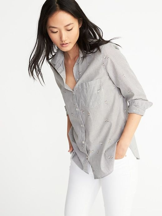Knit Button Down Blouse
