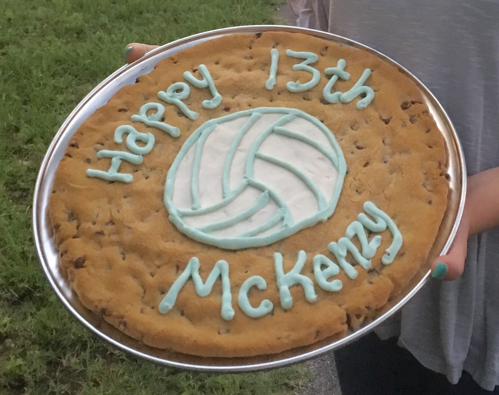 Volleyball Cookie Cake Volleyball Cookies Cookie Cake Cake