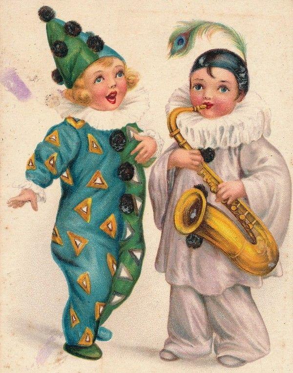 Год, история ретро открытки