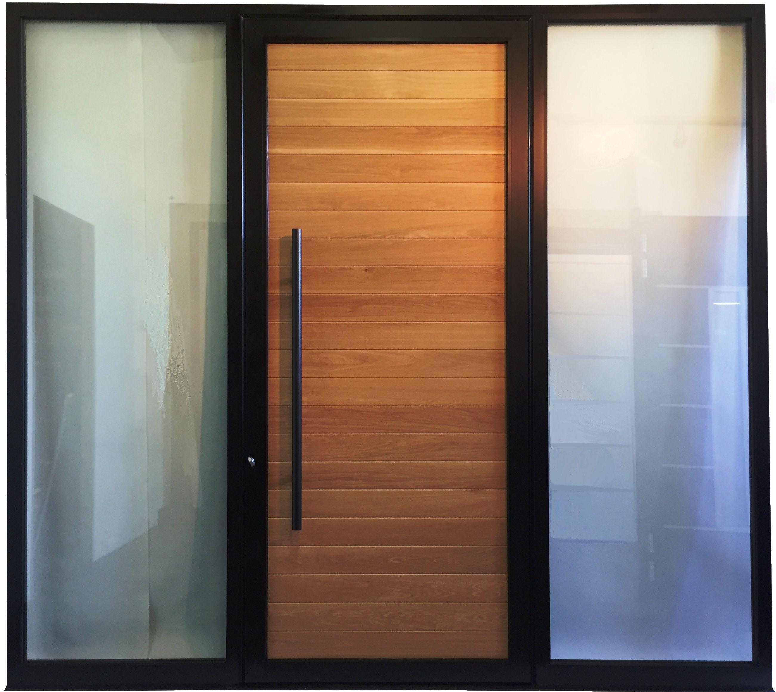 Modern Aluminum Door With Wood Slots Door Design Modern
