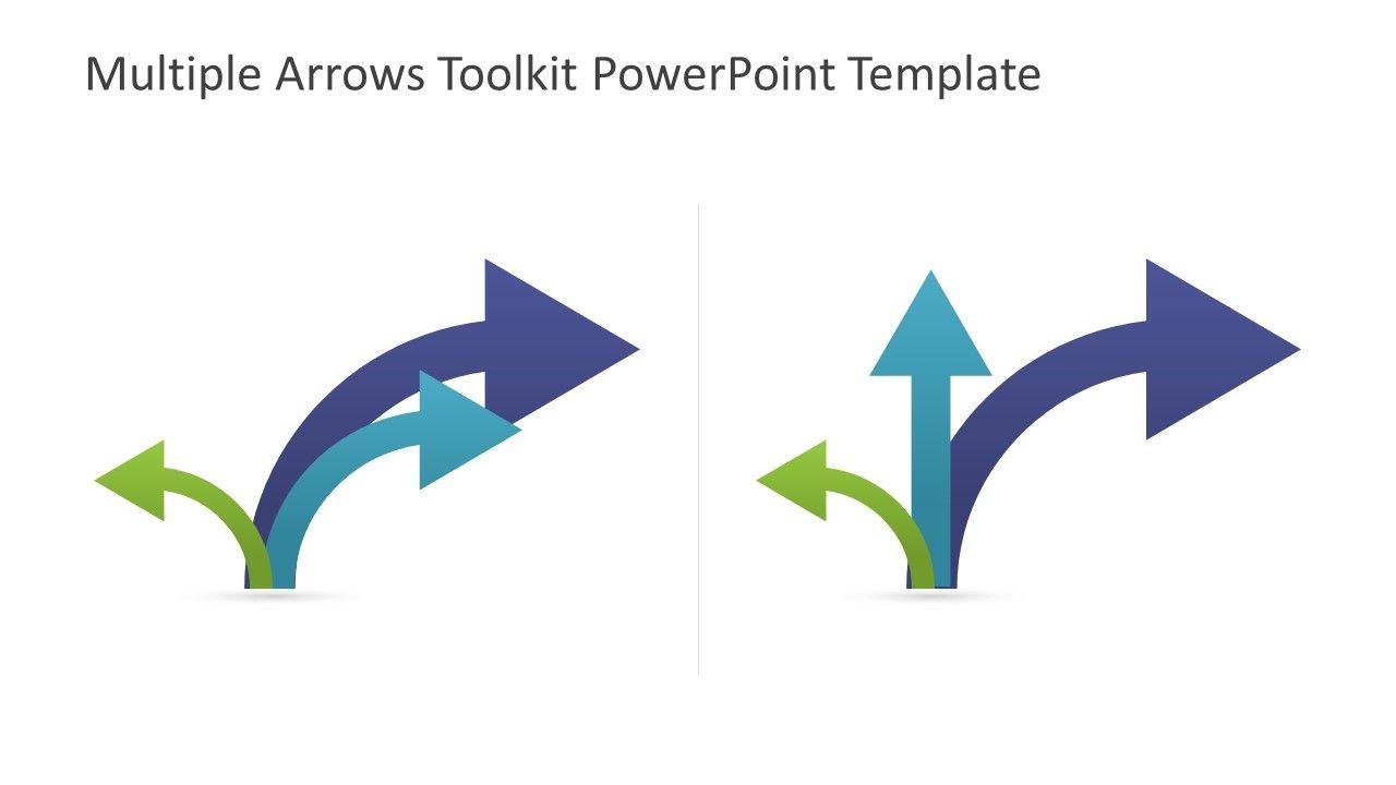 Multiple Arrows Toolkit PowerPoint Template | PowerPoint ...