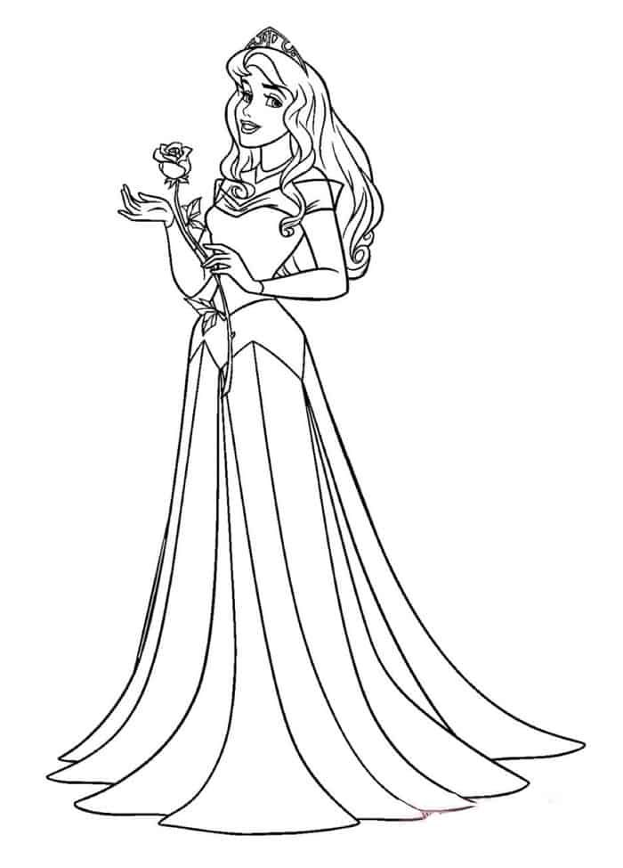 Disney Princess Coloring Pages Belle In 2020 Disney Princess Coloring Pages Sleeping Beauty Coloring Pages Disney Princess Colors