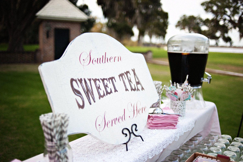 CUSTOM SWEET TeA Wedding Signs Decorations Featured In Southern Weddings Magazine 24X18 5495 Via