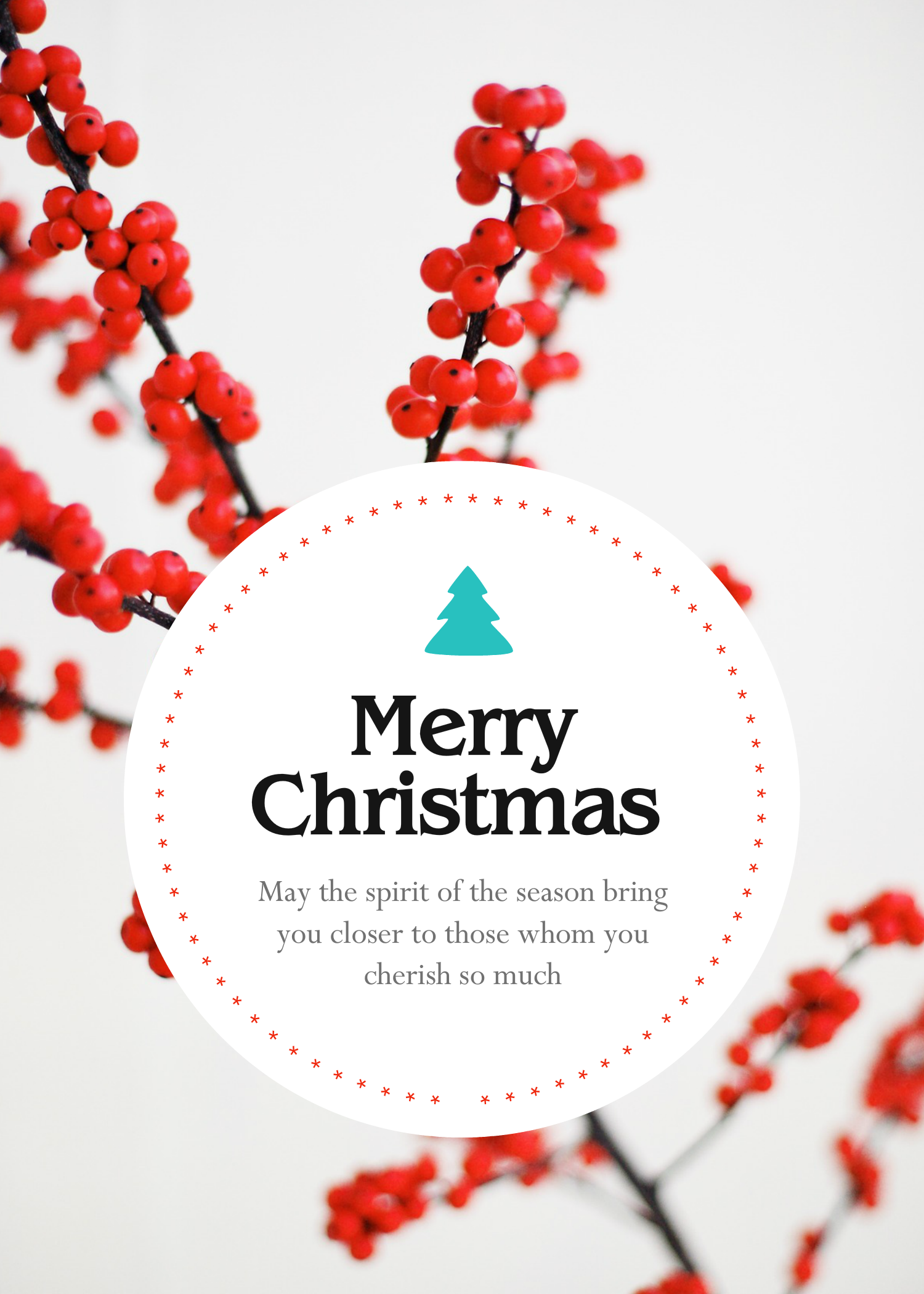 Greeting Card Template Created With Youzign Christmasspirit Theme Free Graphic Design Greeting Card Template Card Template