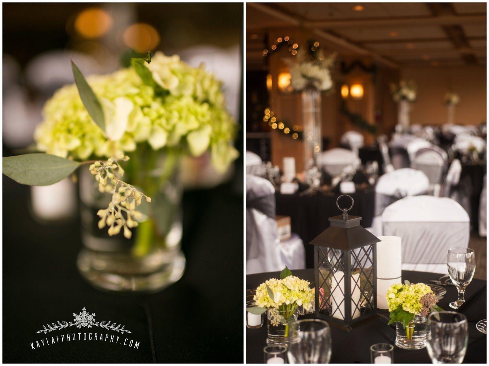Wedding decorations black and gold  Tellico Village Yacht Club Wedding  Molly u Zach  Fall Wedding