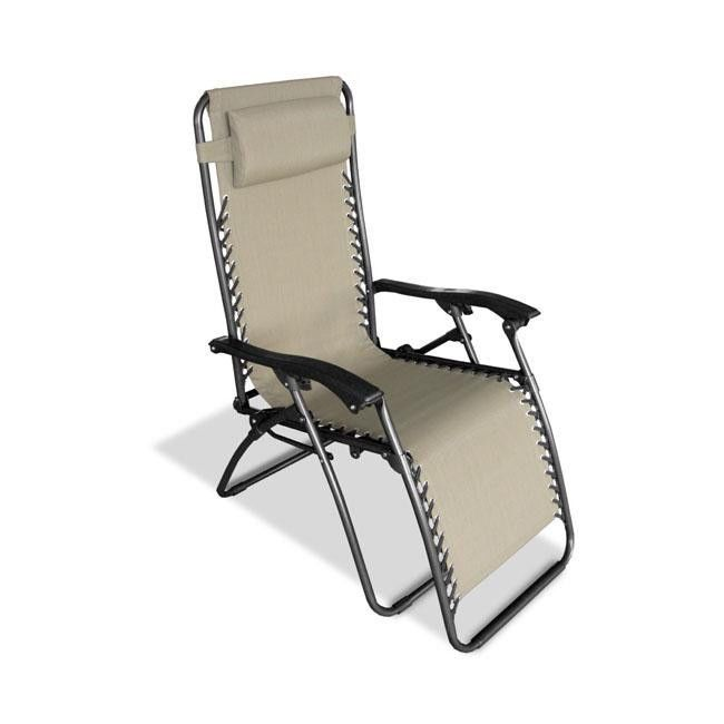 Caravan Canopy Zero Gravity Reclining Chair with Adjustable Headrest Beige  sc 1 st  Pinterest & NEW Outdoor Recliner Patio Deck Pool Lawn Chairs Chaise Loungers ...