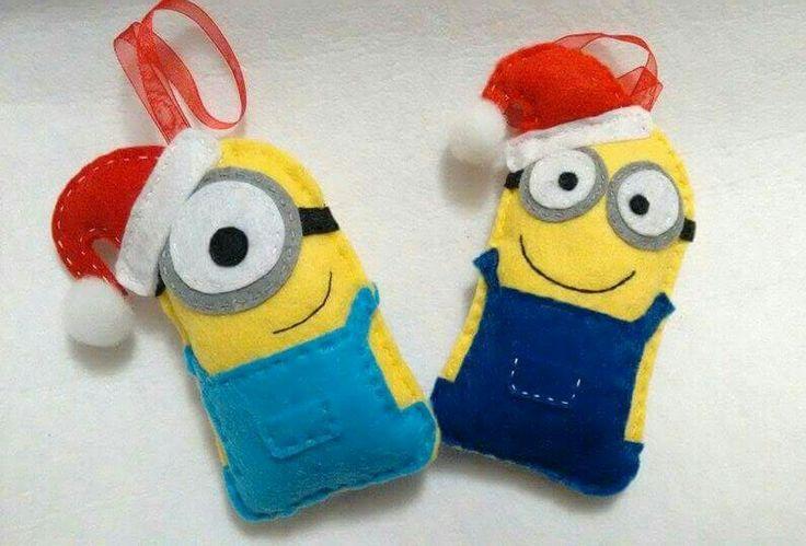 felt christmas ornaments christmas minions - Minion Christmas Decorations