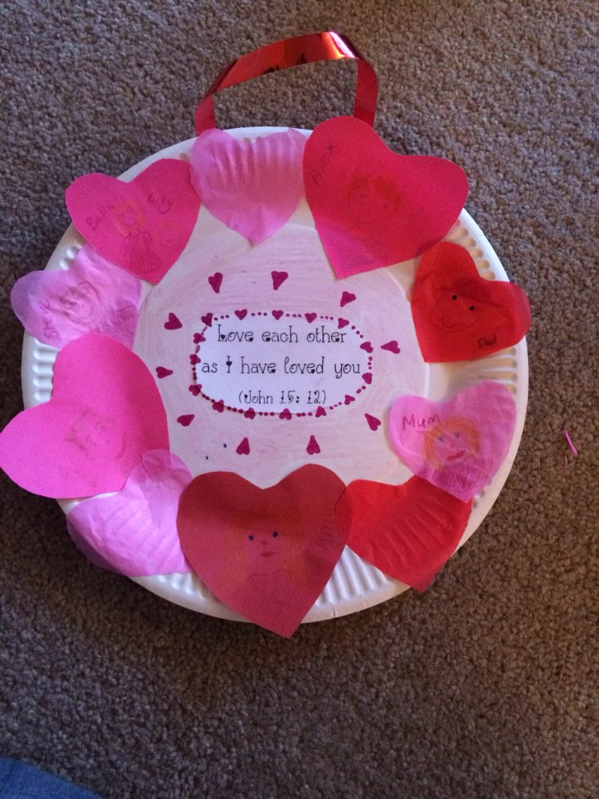 John 15:12 Love one another childrens liturgy craft activity. The ...