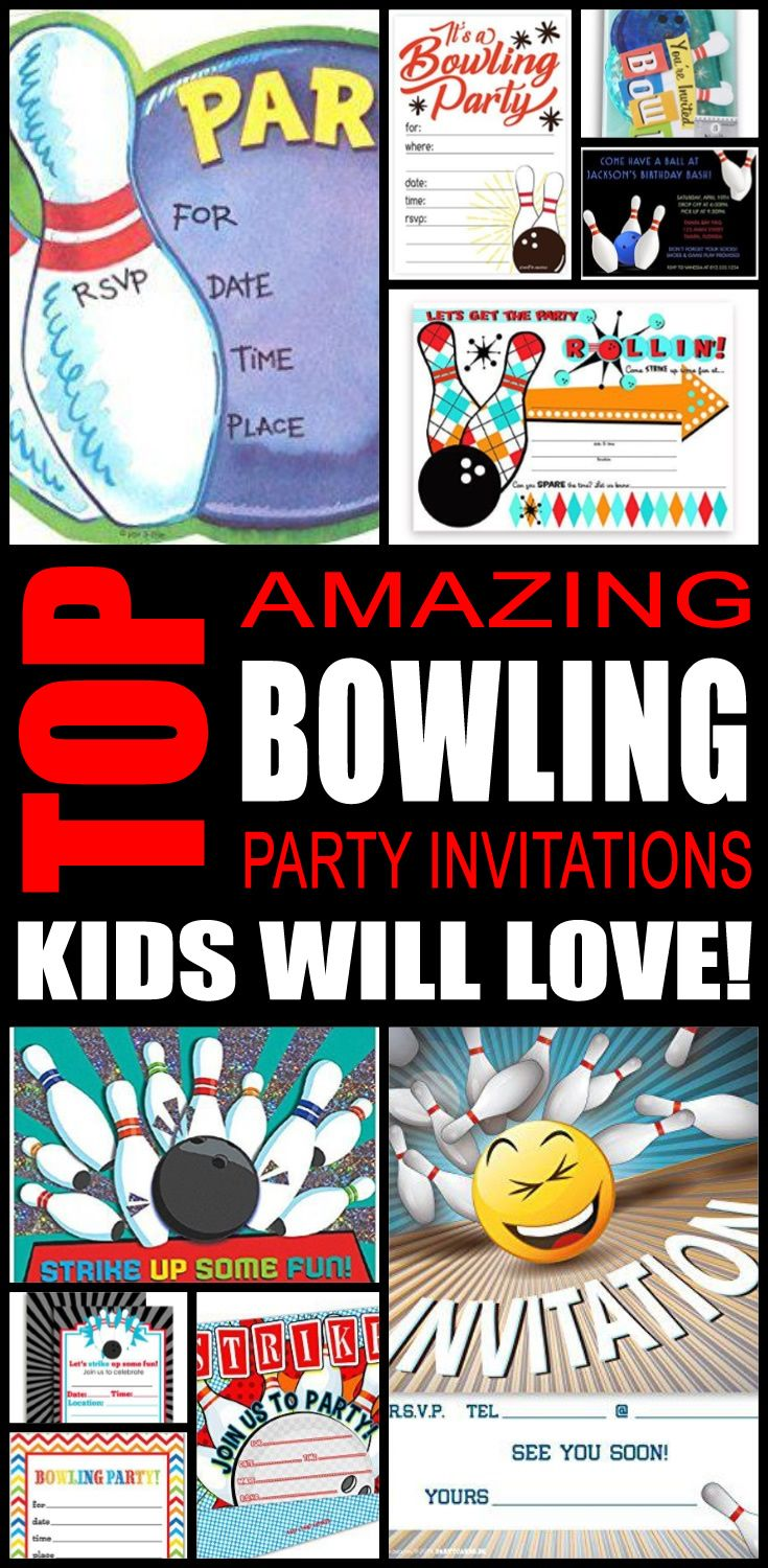 Top Bowling Party Invitations Kids Will Love | Bowling party ...