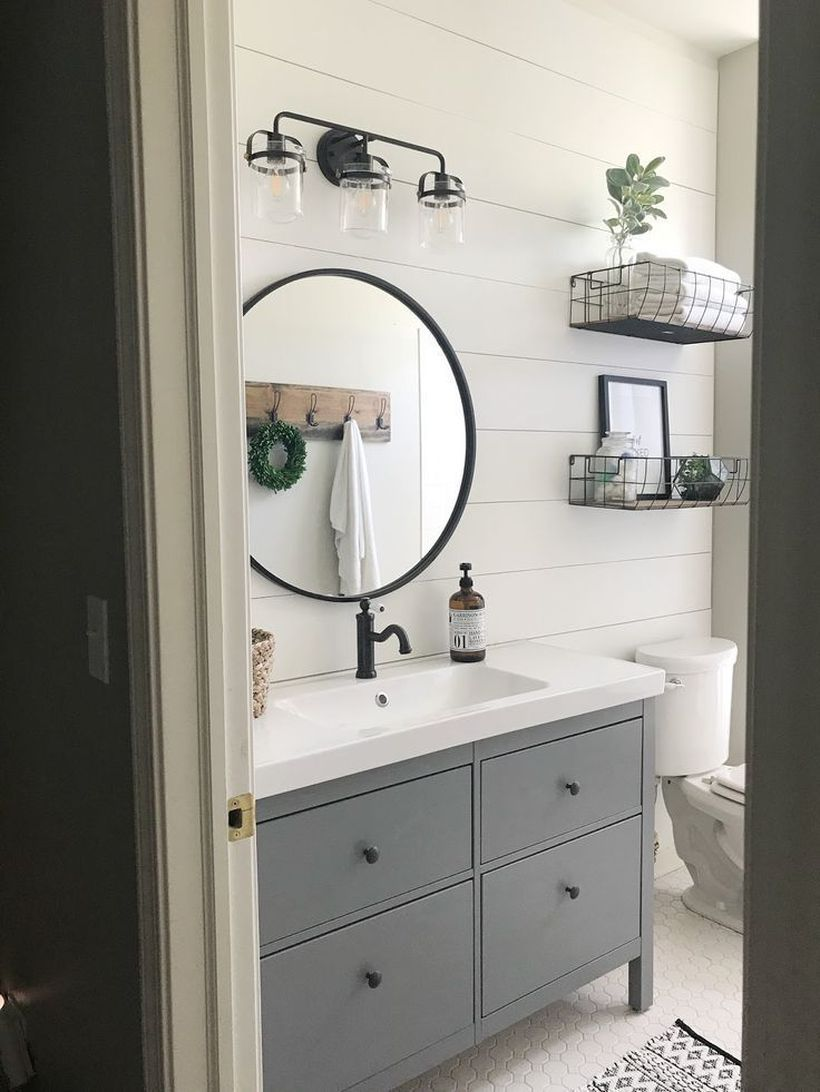 Awesome Modern Farmhouse Style Bathroom Remodel Decor Ideas - Bathrooms Remodeling