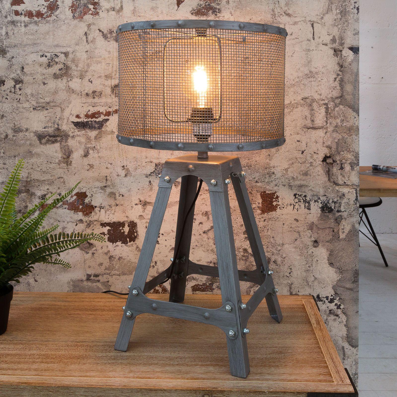 Https Www Ebay De Itm Moderne Tischleuchte Loft 60cm Iron Grau Industrial Design Tischlampe Lampe 29 Industrie Leuchten Industrie Mobel Industriedesign Mobel