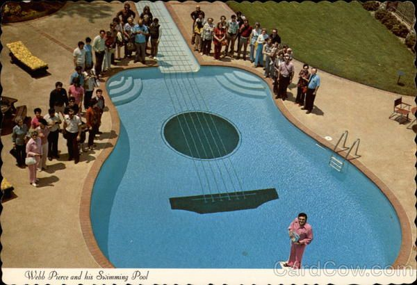 Webb Pierce And His Swimming Pool Swimming Pools Pool