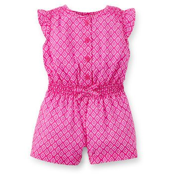 Carters Girls Chambray Anchor Print Romper