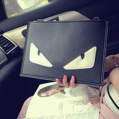 Monster Envelope Novelty Small Eyes Handbags