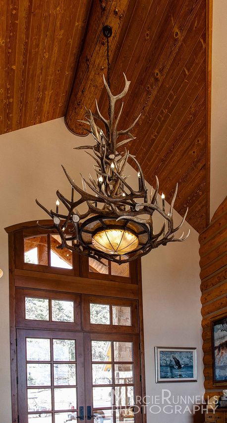 Peakantlers naturally shed antler chandelier in grand front com naturally shed antler chandelier in grand front entry in mountain home woodland aloadofball Images