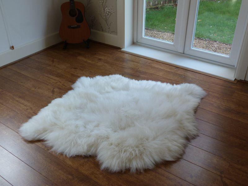 British Sheepskin Rug Natural 2 Skin Sheepskin rug