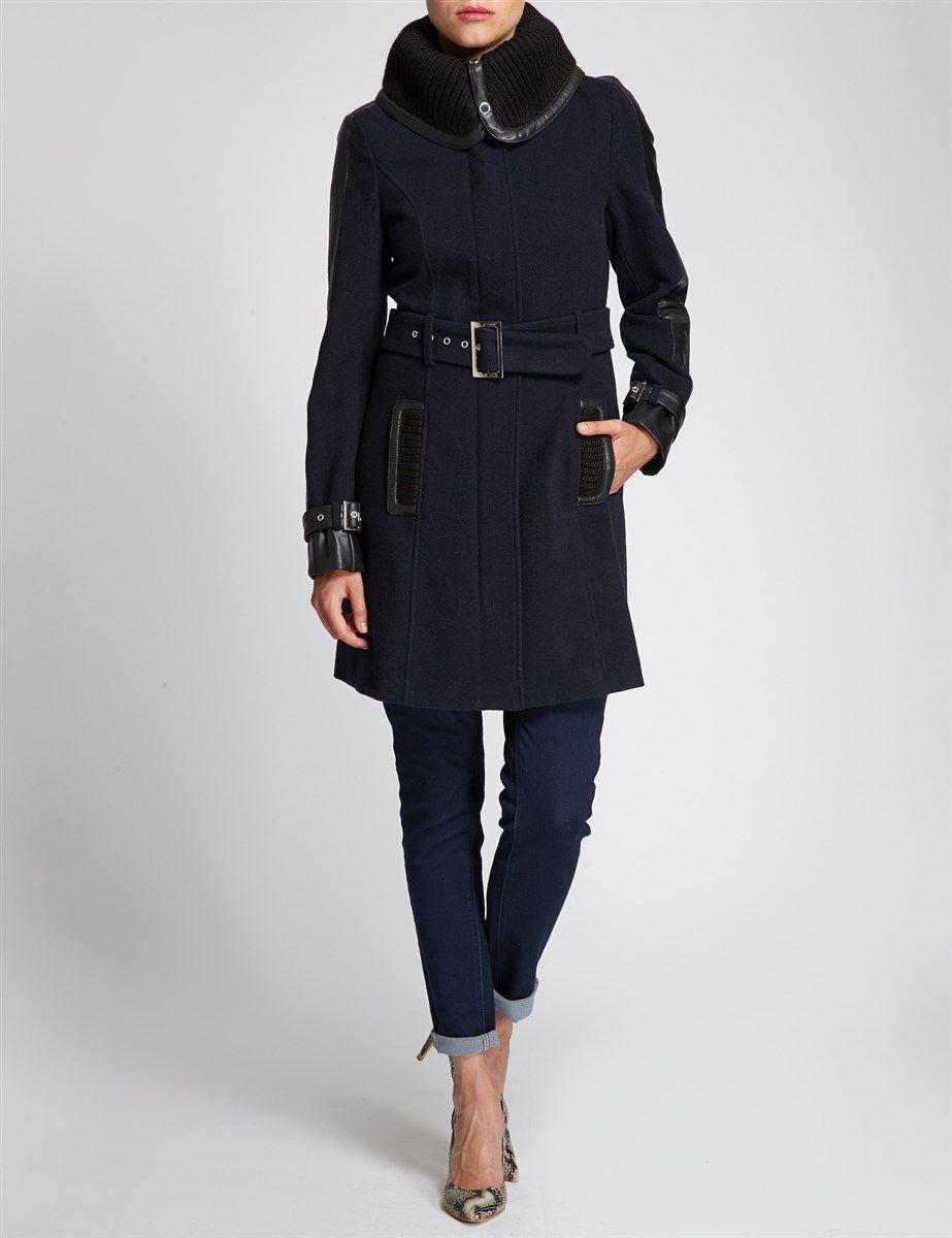 56e899f08e162 Manteau Morgan, achat Manteau large col taille cintrée Morgan prix promo  Boutique Morgan 149.00 €