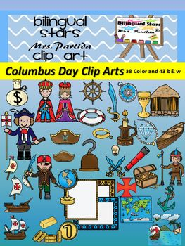 Columbus Day Clip Arts 81 Total 38 Color And 43 B W Imagesthis Product Includes 38 In Color And 43 Black And White Clip Clip Art Columbus Day Clipart Art