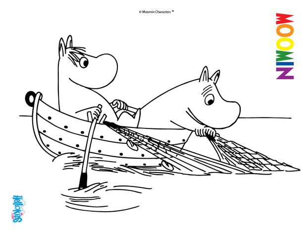printable moomin troll pictures to color