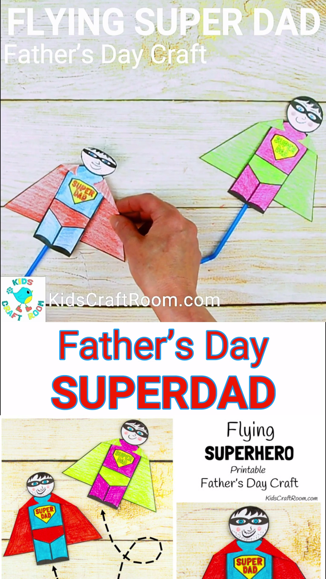 Flying Super Dad