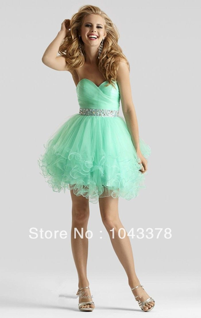 Mint Green Short Lace Cocktail Dresses Party Crystal Graduation Women Prom Plus Size Coctail Mini Semi Formal Dresses Weddings & Events