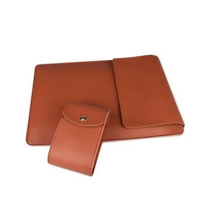 MacBuddy - Multipurpose Laptop Sleeve With Integrated Stand & Mouse Pad - Brown / 2020 Macbook Pro 13