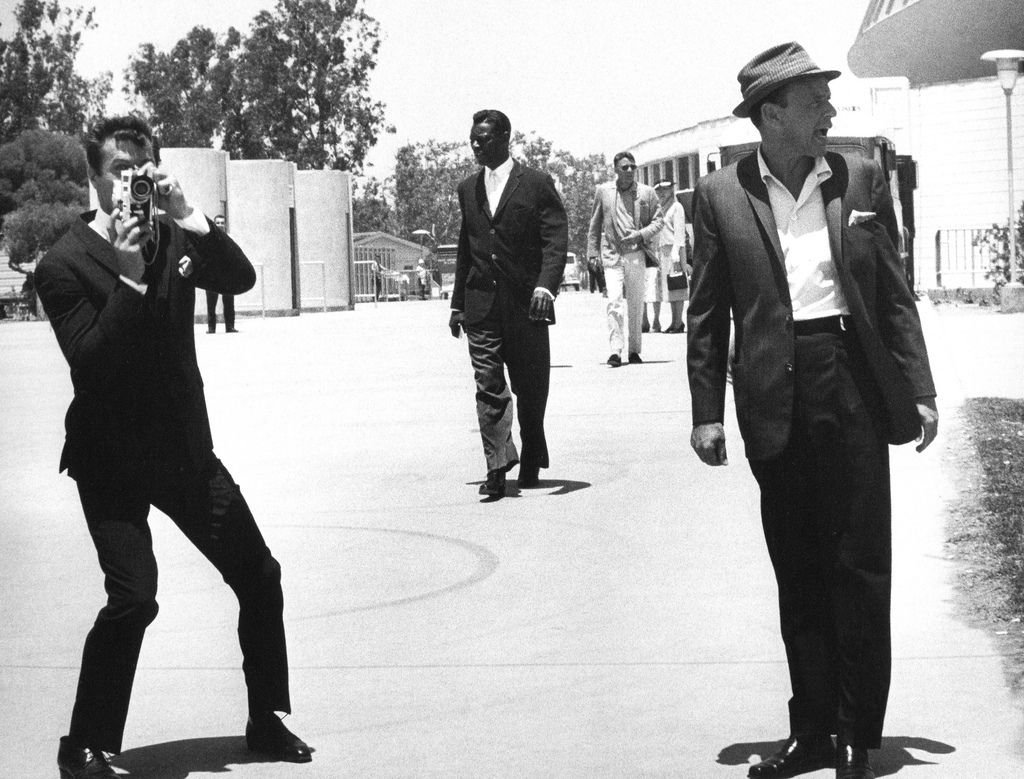 Tony Curtis, Nat King Cole, Peter Lawford and Frank Sinatra