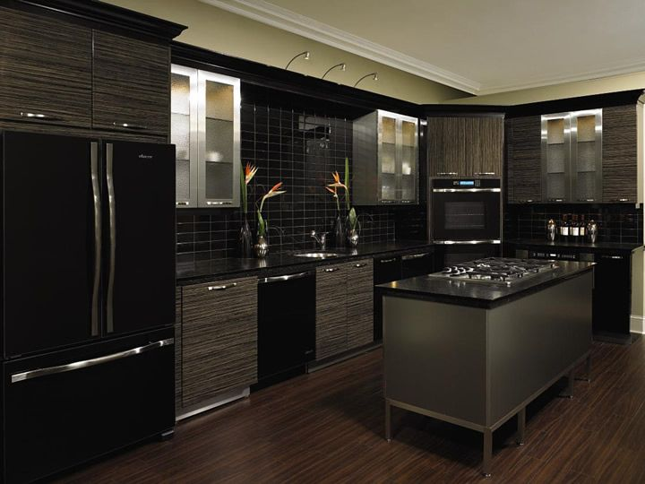 The Unexpected Stylish Look Of Black Kitchen Designs