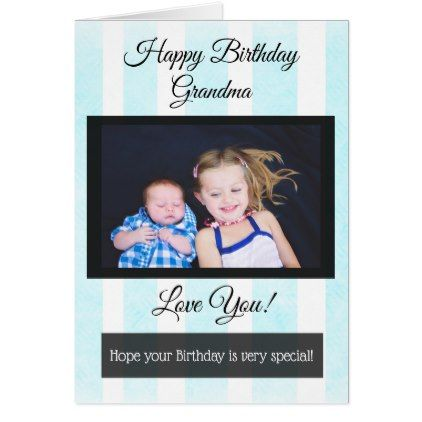 Happy Birthday Grandma Personalized Photo Card